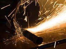 cięć metalu drymby pracownik Zdjęcie Royalty Free