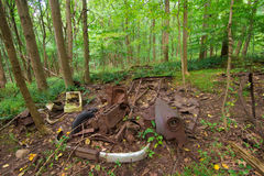 Ciężarówek ruiny lub farma Fotografia Royalty Free