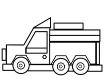 Ciężarówka żartuje edukacyjne kolorystyk strony Zdjęcia Royalty Free