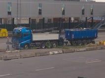 Ciężarówka dla nieść żwir w Kopenhaga fotografia stock