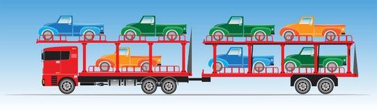 Ciężarówka dla Samochodowego transportu wektoru Royalty Ilustracja
