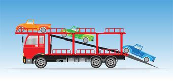 Ciężarówka dla Samochodowego transportu wektoru Ilustracja Wektor