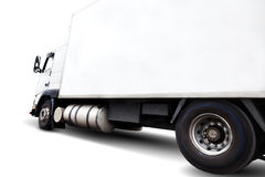 Ciężarówka isolared na bielu fotografia royalty free