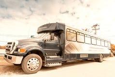 Ciężarówka na amerykańskiej drodze fotografia stock