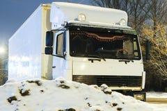 Ciężarówka na parking w Kostroma Zdjęcie Royalty Free