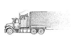 Ciężarówka - na tle Obrazy Royalty Free