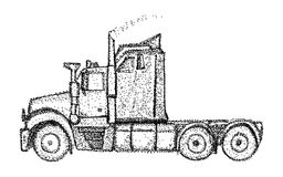 Ciężarówka - odizolowywająca na tle Obraz Stock