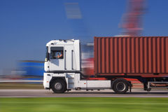 ciężarówka prędkości Zdjęcia Royalty Free