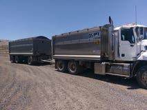 Ciężarówka przy pracą obrazy stock
