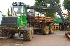 Ciężarówka używać dla odtransportowywać szalunek fabryka zdjęcia royalty free