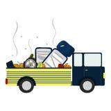 Ciężarówka z śmieci Fotografia Stock