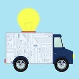 Ciężarówka z żarówką Obrazy Stock