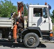 Ciężarówka z żurawiem Fotografia Royalty Free