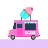 Ciężarówka z babeczkami Uliczny jedzenie Zdjęcie Royalty Free