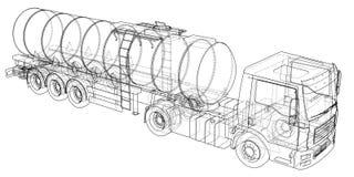 Ciężarówka z cysternowym pojęciem wektor Obrazy Royalty Free
