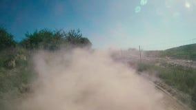 Ciężarówka z pyłem w swój plecy zbiory