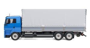 Ciężarówka z tarp systemu samochodem dostawczym świadczenia 3 d ilustracja wektor