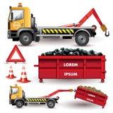 Ciężarówka z usuwalnym zbiornikiem royalty ilustracja