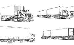 ciężarówki. Fotografia Royalty Free