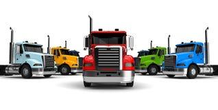 Ciężarówki floty pojęcie royalty ilustracja
