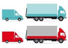 Ciężarówki i samochody dostawczy ilustracji