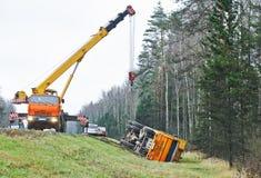 Ciężarówki kraksy samochodowej wypadek fotografia stock