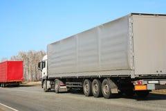 Ciężarówki odtransportowywa zafrachtowania zdjęcie royalty free