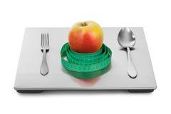 Ciężar owoc i skala Fotografia Royalty Free