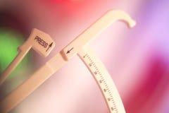 Ciężar straty diety fst calipers zdjęcia royalty free