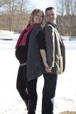 Ciężarna żona i mąż Fotografia Royalty Free