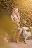 ciężarna piękna dziewczyna Fotografia Stock