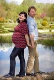 Ciężarni szczęśliwi potomstwa dobierają się sen przyszłość Obraz Stock