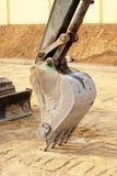 Ciężarowa Backhoe miarki przerwy praca obrazy royalty free