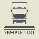 Ciężarowa ikona lub znak Fotografia Royalty Free