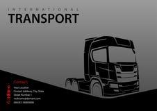 Ciężarowa sylwetka na Szarym tle ilustracja wektor