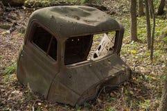 Ciężarowa taksówka W drewnach Fotografia Stock