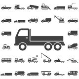 Ciężarowe ikony na białym tle Obraz Stock