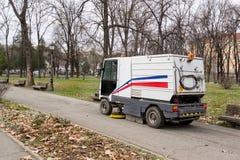 Ciężarowi kolekcjonowanie spadku liście w parku Obraz Royalty Free