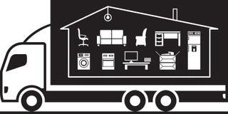 Ciężarowi przenosi gospodarstw domowych należenia Zdjęcie Royalty Free