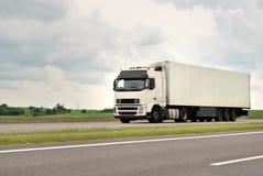 ciężarowy autostrada biel fotografia royalty free