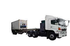ciężarowy biel Zdjęcie Royalty Free