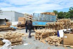 Ciężarowy engin w fabryce Zdjęcia Stock