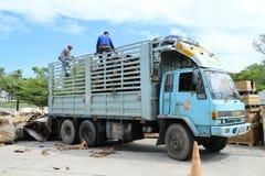 Ciężarowy engin w fabryce Obraz Royalty Free