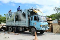 Ciężarowy engin w fabryce Obrazy Royalty Free