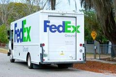 ciężarowy Fedex doręczeniowy samochód dostawczy Obrazy Royalty Free