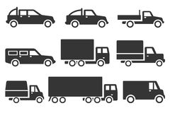 Ciężarowy ikona set royalty ilustracja