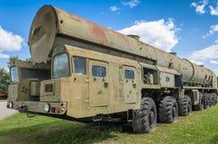 Ciężarowy MAZ-543 pociska przewoźnik Obrazy Royalty Free