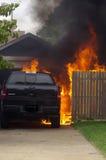Ciężarowy ogień Zdjęcia Royalty Free