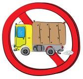 Ciężarowy pojazdu pozwolić znak Zdjęcia Royalty Free