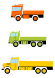 Ciężarowy tipper set. Fotografia Royalty Free